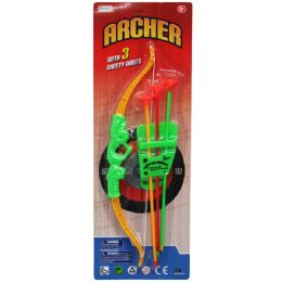 "72 Units of 13.5"" BOW & SOFT DART ARROWS PLAY SET, IN BLISTER CARD - Darts & Archery Sets"