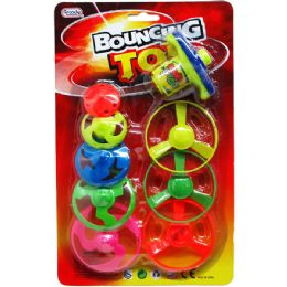 60 Units of 8 Piece Saucers & Tops w.Wind-Up Shooter - Toy Sets