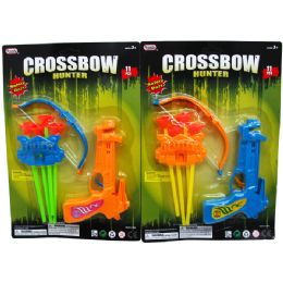 48 Units of 6.5 Inch Cross Bow Play Set w. Soft Darts - Toy Sets