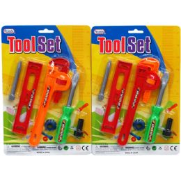 72 Units of 6PC TOOL PLAY SET IN BLISTER CARD, ASSORTED - Toy Sets