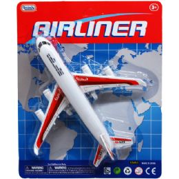 96 Units of 8 Inch Airliner Toy Plane - Cars, Planes, Trains & Bikes