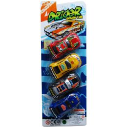 """48 Units of 4PC 4"""" FRICTION CAR SET IN BLISTER CARD - Cars, Planes, Trains & Bikes"""
