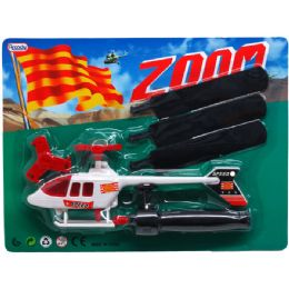 72 Units of ZOOM HELICOPTER IN BLISTER CARD - Cars, Planes, Trains & Bikes