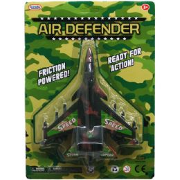 """48 Units of 7.5"""" F/F AIR DEFENDER JET IN BLISTER CARD - Cars, Planes, Trains & Bikes"""