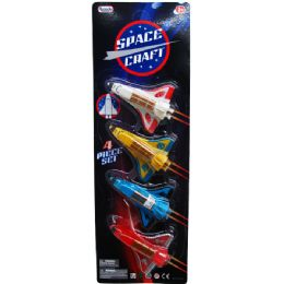48 Units of 4 Piece Mini Space Shuttles - Cars, Planes, Trains & Bikes