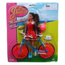 48 Units of Julia With Mountain Bike - Dolls