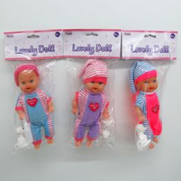 "96 Units of 9"" IC SOUND BABY DOLL IN PP BAG W/HEADER, ASSORTED - Dolls"