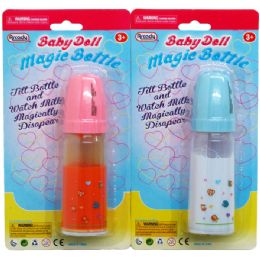 144 Units of Magic Toy Baby Bottle - Dolls