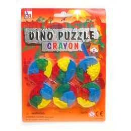 72 Units of Dino Puzzle Crayon - Chalk,Chalkboards,Crayons
