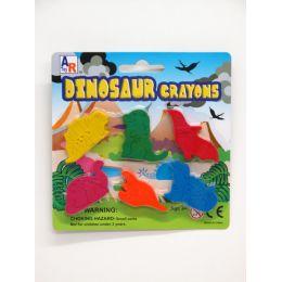 72 Units of 6 PCS DINO CRAYON SET - Chalk,Chalkboards,Crayons