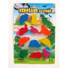 72 Units of 12 Piece Dinosaur Play Set - Chalk,Chalkboards,Crayons