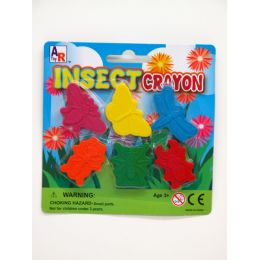 72 Units of INSECT CRAYON 6 PCS - Chalk,Chalkboards,Crayons