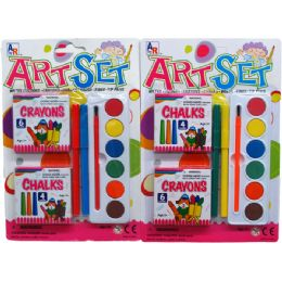72 Units of Art Play Set In Blister Card, Assorted - Toy Sets