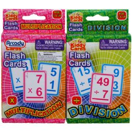 72 Units of 27 LEARNING FLASH CARDS(x & / ) 2ASST. IN PEG ABLE COLOR BOX - Educational Toys