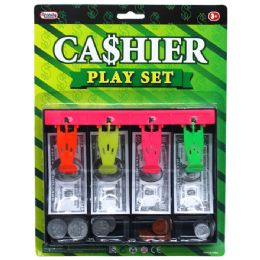 48 Units of PLAYING MONEY CASH DRAWER W/COINS IN BLISTERED CARD - Educational Toys