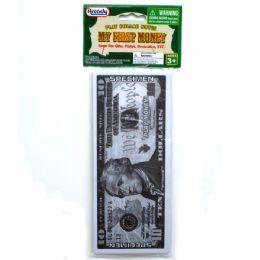 """72 Units of 4""""X9"""" LARGE PLAYING MONEY BILLS IN POLY BAG W/HEADER - Educational Toys"""