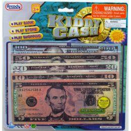 72 Units of 50PC ACTUAL COLOR KIDDY CASH BILLS IN BLISTER CARD - Educational Toys