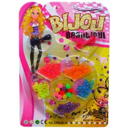 72 Units of BEADS-JEWELRY PLAY SET IN BLISTER CARD - Girls Toys
