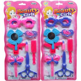 72 Units of 7pc Beauty Accss Play Set In Blister Card - Girls Toys