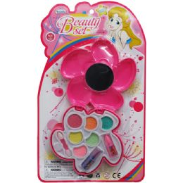72 Units of FLOWER SHAPE MAKE UP BEAUTY SET IN BLISTER CARD - Toy Sets