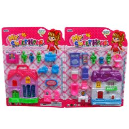 48 Units of My Mini Sweet Home Set & Furniture - Toy Sets