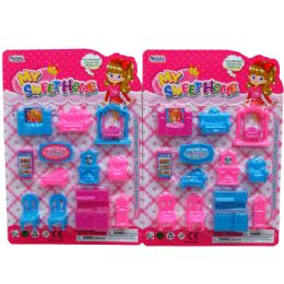 72 Units of My Sweet Home Furniture Set - Toy Sets