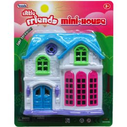 "72 Units of 6""x6"" LITTLE FRIENDS MINI HOUSE IN BLISTER CARD - Toy Sets"