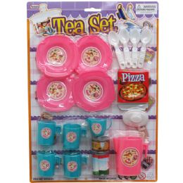 48 Units of 18 PC TEA PLAY SET IN BLISTER CARD - Toy Sets