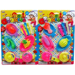 24 Units of 12PC COOKING PLAY SET IN BLISTER CARD - Toy Sets