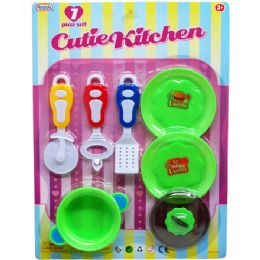 48 Units of 7PC COOKING PLAY SET IN BLISTERED CARD - Toy Sets