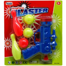 "96 Units of 5"" MINI PING PONG BLASTER PLAY SET IN BLISTER CARD - Toy Sets"