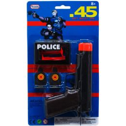 72 Units of TOY GUN WITH RUBBER BULLETS AND TARGETS IN BLISTER CARD - Toy Weapons
