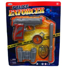 """24 Units of 6"""" TOY DART GUN W/ACCESSORIES IN BLISTERED CARD - Toy Weapons"""