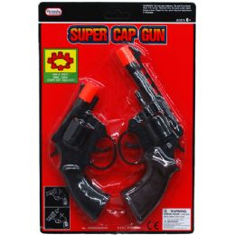 48 Units of 2PC SUPER CAP TOY GUNS (REVOLVERS) IN BLISTER CARD - Toy Weapons