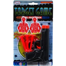 72 Units of SOFT DART GUN WITH TARGETS IN BLISTER CARD - Toy Weapons