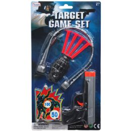 72 Units of 8PC TARGET GAME TOY GUN PLAY SET IN BLISTER CARD - Toy Weapons