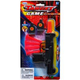 """48 Units of 7.5"""" SOFT DART TOY UZI W/TARGETS IN BLISTER CARD - Toy Weapons"""
