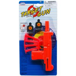 72 Units of SOFT DART TOY UZI WITH TARGETS IN BLISTER CARD - Toy Weapons