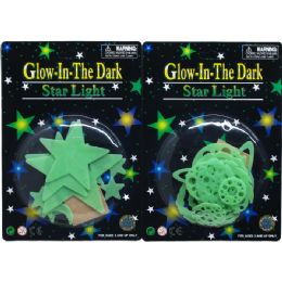 72 Units of GLOWING PLANETS, STARS AND COMETS IN BLISTER CARD - Stickers