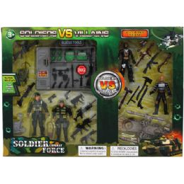 24 Units of Soldier Vs Villains Play Set In Window Box - Action Figures & Robots