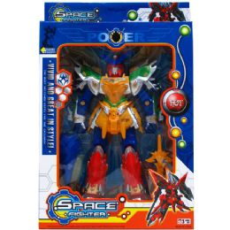 """12 Units of 12"""" SPACE FIGHTER ROBOT W/LIGHT & SOUND IN WINDOW BOX - Action Figures & Robots"""
