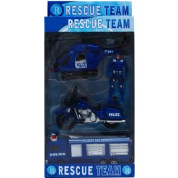 18 Units of 4pc Police Rescue Team In Pegable Window Box - Action Figures & Robots