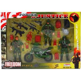24 Units of 18PC FREEDOM FORCE ACTION FIG PLAY SET IN WINDOW BOX - Action Figures & Robots