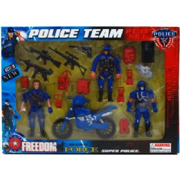 24 Units of 18pc Police Team Action Fig Play Set In Window Box - Action Figures & Robots