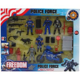 18 Units of Police Force Play Set In Window Box - Action Figures & Robots