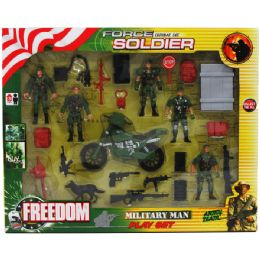 18 Units of 24pc Army Force Play Set In Window Box - Action Figures & Robots