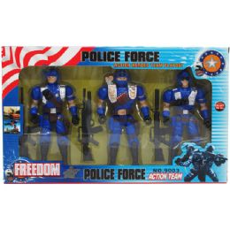 "24 Units of 3pc 7"" Police Action Figs. Set W/accss In Window Box - Action Figures & Robots"