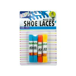 36 Units of Kids Colored Shoelaces - Footwear Accessories