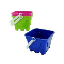 72 Units of Square Mold Beach Pail - Beach Toys