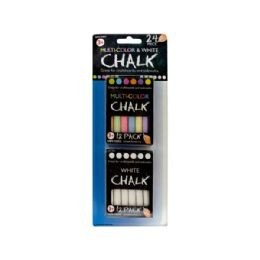 72 Units of MultI-Color And White Chalk Set - Chalk,Chalkboards,Crayons